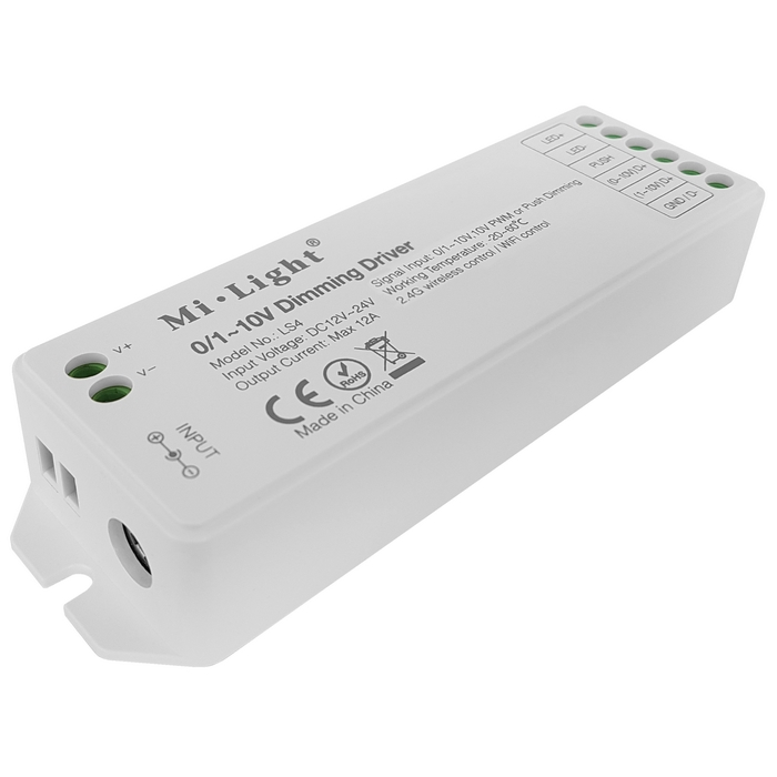 MiBoxer (Mi-Light) LS4 LED stmívač RF/0-10V/push 12A