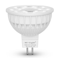 MiBoxer (Mi-Light) FUT104 LED bodová žárovka 4W MR16 DC12V RGB+CCT