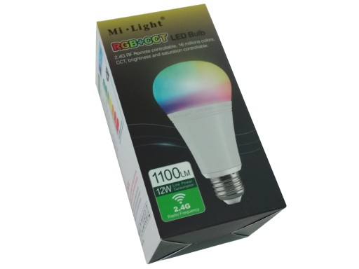MiBoxer (Mi-Light) FUT105 LED žárovka 12W E27 RGB+CCT